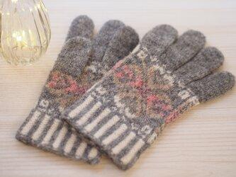 【編み物キット】アピラの手袋(ピンクバージョン)の画像