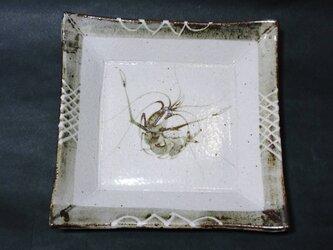 正方形陶板(海老)の画像