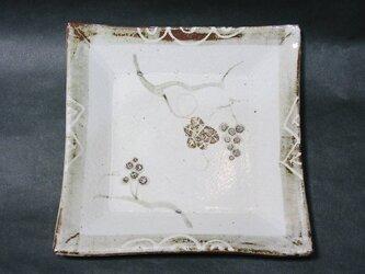 正方形陶板(葡萄)の画像