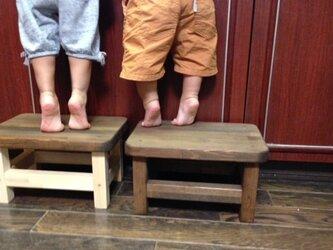 stool350*250 ウォルナット   RP-ST02-hの画像