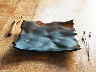 ガラスの器 - 「茶色のガラス」● 18cm ● 茶色・艶消しの画像