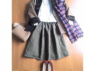 キルティング生地 ギャザースカートの画像