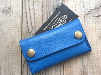 カードケース(名刺入れ) / 高級イタリアンレザー ブルーの画像