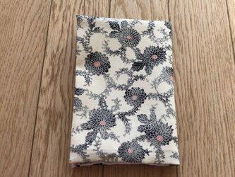 ブックカバー文庫本用 白地に小花の画像