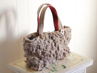 ひつじ雲のトートバッグの画像