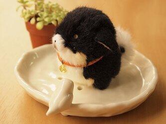 【再販】ちいさなぬいぐるみ柴犬*垂れ耳黒の画像
