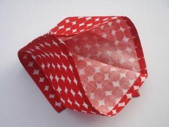 袋ハンカチ 赤い円の画像