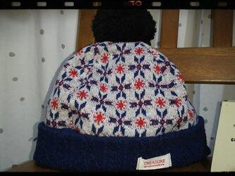 kids リバーシブルニット帽の画像