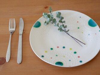 白モヨウ大皿【受注制作】の画像