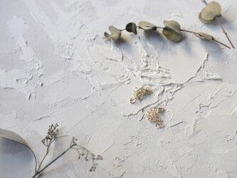 「つぶ」シルバーピアス 2cmの画像