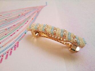 髪飾り *ビーズ刺繍バレッタ *ice candyの画像