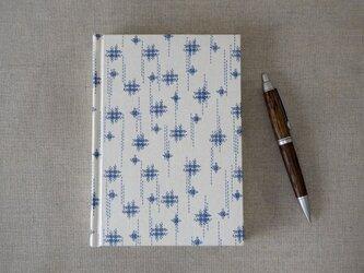【再販】刺繍みたいな格子模様の和柄ノート きなり B6サイズの画像