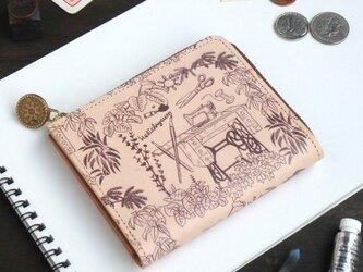 Lウォレット L字ファスナー 財布(アトリエ)オールレザー 革  メンズ レディース ILL-1157の画像