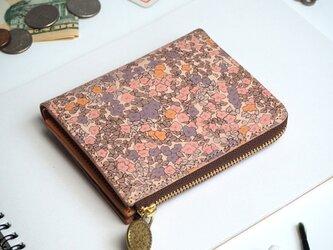 Lウォレット L字ファスナー 財布(ロマンティック インパチェンス)オールレザー 革  レディース ILL-1157の画像