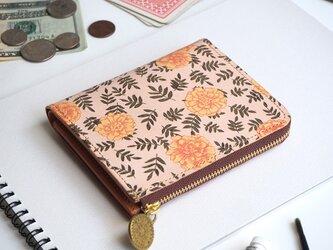 Lウォレット L字ファスナー 財布(ヴィンテージ マリーゴールド)オールレザー 革 レディース ILL-1157の画像