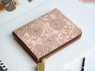 L字ファスナー 財布(グレイッシュ ジニア)オールレザー 革  メンズ レディース ILL-1157の画像