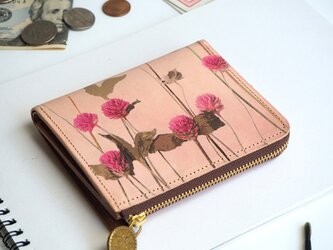 Lウォレット L字ファスナー 財布(ノスタルジック ゴンフレナ)オールレザー 革 レディース ILL-1157の画像
