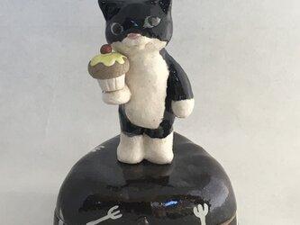 陶ハコ「おやつネコ」の画像