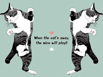 猫のイラスト・ポストカード2種セット①の画像