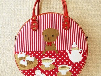 """Bag collaborated with """"Gakuen Alice"""" Mr. Bear's tea party – Redの画像"""