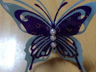【受注製作】立体切り絵 蝶々の画像