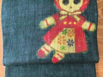名古屋帯・文化人形の画像