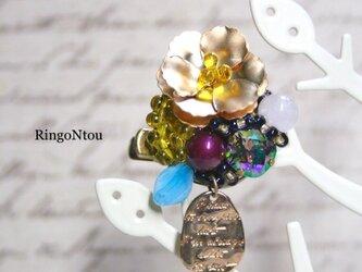 お花の Bijouブローチ&クリップ(maron)の画像