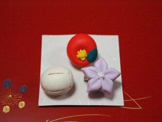 和菓子のブローチ②の画像