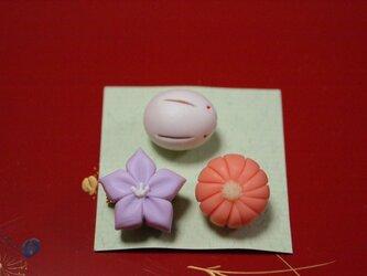 和菓子のブローチ④の画像