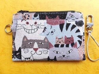 パス&スマートキーケース(猫いろいろ)の画像