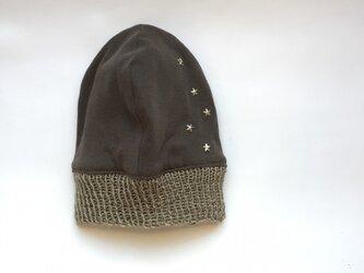 星に願いを...のニット帽 シルバー(リバーシブル)の画像