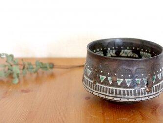 黒土モヨウ茶器【受注制作】の画像