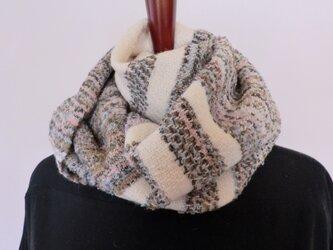 手織りショール ウール 段染めグレー系の画像