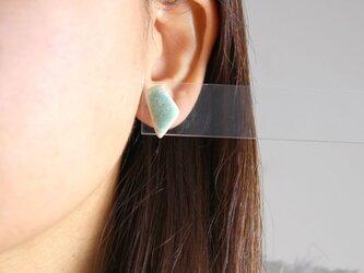 crystal green ピアス p0008の画像