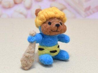 美味しい豆を貰いに来た青い子鬼コグマさんの画像