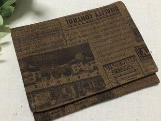 #109柿渋染め/カードケースの画像