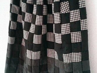 sale*小さなパッチのスカート*blackミックスの画像