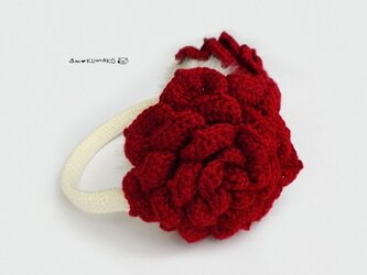 薔薇のイヤーマフの画像