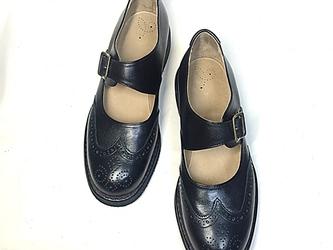 blue-bee 手作り靴 モンクストラップパンプス L-6(レディース)の画像