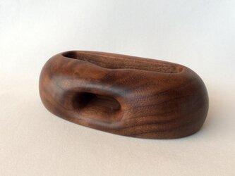 【受注制作】木製スマートフォンスタンド(ウォルナット)の画像