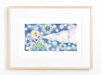 """絵のある暮らし。大きな額装アートプリント """"星を生みだす音色"""" FAP-A3N172 送料無料の画像"""
