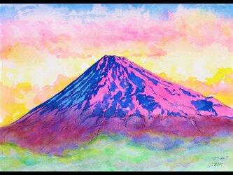 赤富士の画像