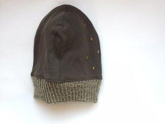 星に願いを...のニット帽 ブロンズ(リバーシブル)の画像