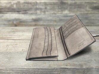 男の本革Slim長財布 --- 希少国産牛革ロロマ [セピア]の画像