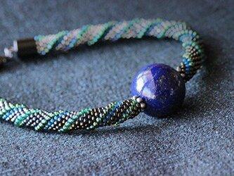 羽織紐(男性用)*ラピスラズリの画像