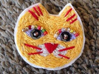 オシャレな猫ワッペンの画像