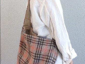 手織りウール  ショルダーバックの画像