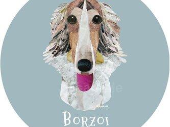 ボルゾイ《犬種名ステッカー/大型犬》の画像
