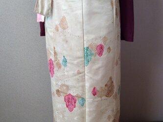 綸子織のロング巻きスカートの画像