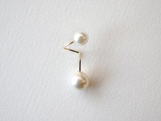 Flip pearl pierce S 14kgf パール ピアスの画像
